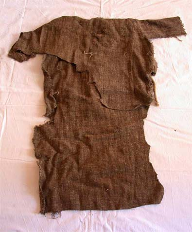 Tunic preserved in basilica of Santa Croce in Florence, made 80 years after St. Francis of Assisi death, late 13th century