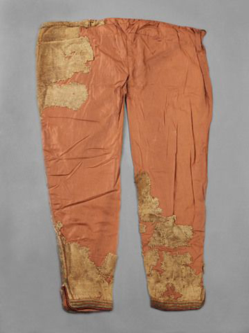 Skjoldeham trousers bog find from 11th century now situated in Skjoldam Tromso Museum