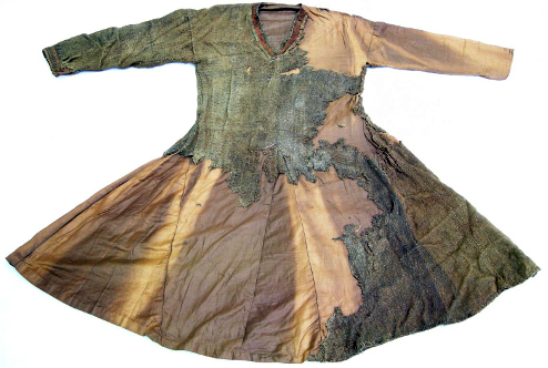 Skjoldeham tunic bog find from 11th century now situated in Skjoldam Tromso Museum