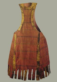 Pellote of Enrique I (1203-1217) is made of silk, gold on edges, Museum de Tales medieval, Burgos