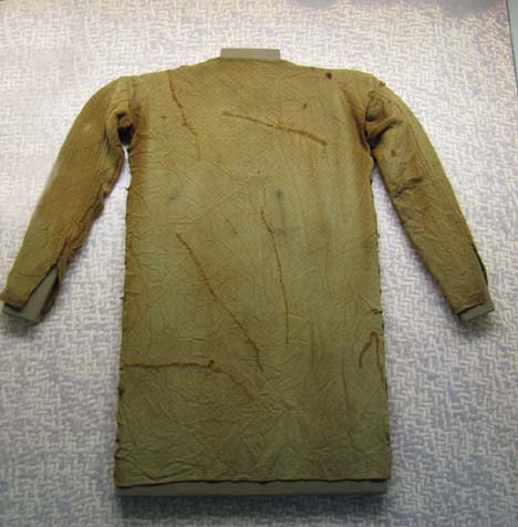germanic tunic found in moor made in ca 4th century. Now located in Gottorp Palace, Schleswig, Germany