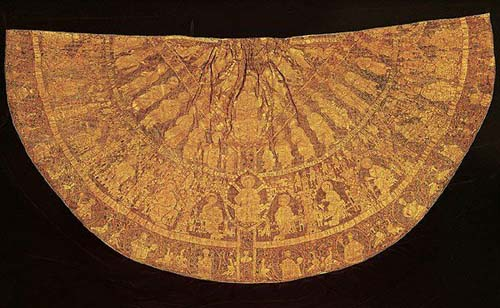 Mantle of Stephan used for his coronational ceremony in 1031, Magyar Nemzeti Museum, Budapest