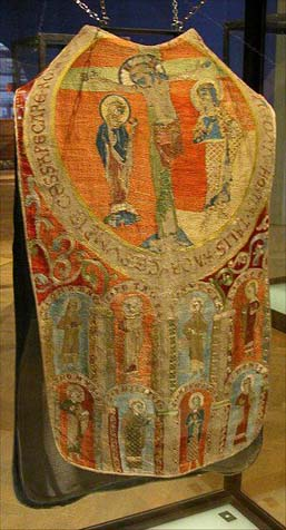 Chasuble from 13th century is shown in Museum fur Angewandte Kunst, Vienna