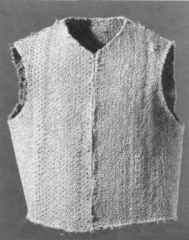 Arming doublet metal rings between 4 layers of linen fabric, Germany, 1500, Bern Historische Museum