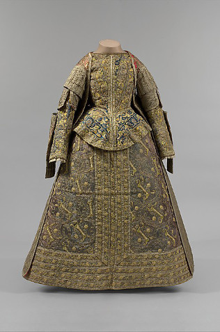 Spanish ensemble over-dress, bodice and basque, cca 1575, Metropolitan Museum of Art, New York