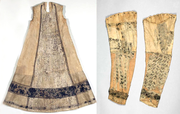 Inner dress from 1580, deposited in Germanisches National Museum, Nurmberg.