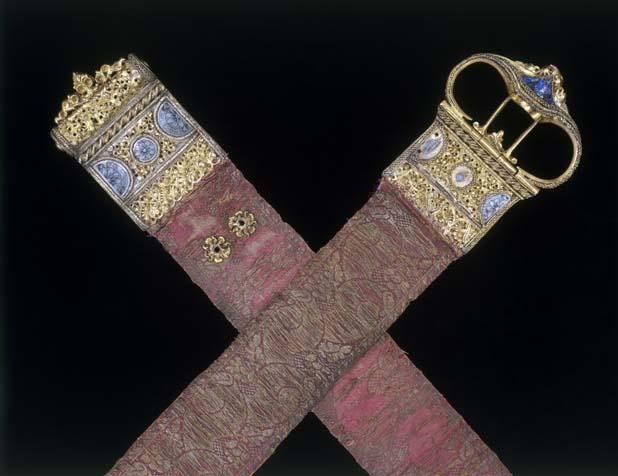 Brocade belt from 15th century, VA Museum, London