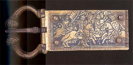 Buckle from the 13th century, Hungarian National Museum, Budapest
