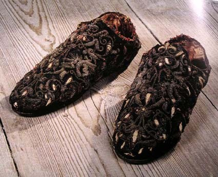 Shoes of Swedish king Erik XIV. made in second half of 16th century. Sweden