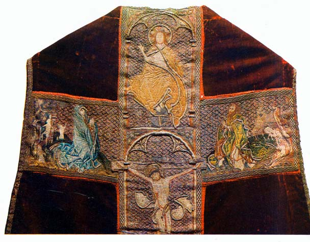Devotional robe Embroidery with depiction of St. John (c. 1400) Hungary
