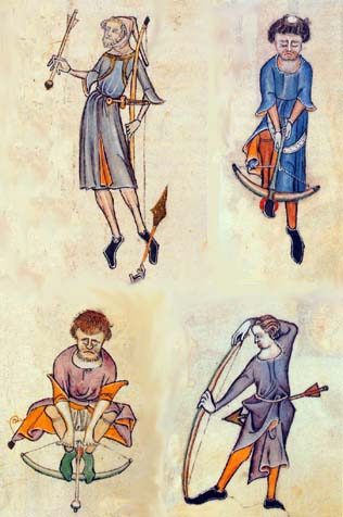 The Luttrell Psalter made at the begging of 14th century in England. Shooters. The Luttrell Psalter, J.Backhouse, London, 1989